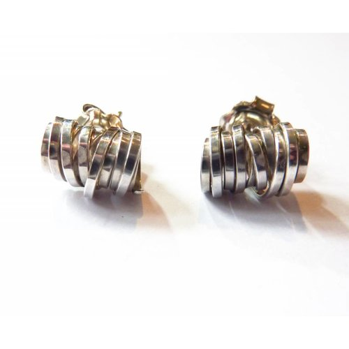 Elizabeth Chamberlain Coil silver stud earrings