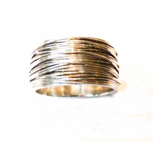Elizabeth Chamberlain Thick wrap  silver ring