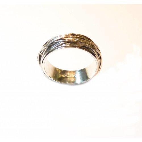Elizabeth Chamberlain Medium A wrap  silver ring