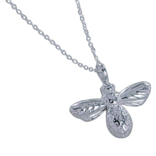 Reeves and Reeves Bee silver necklace