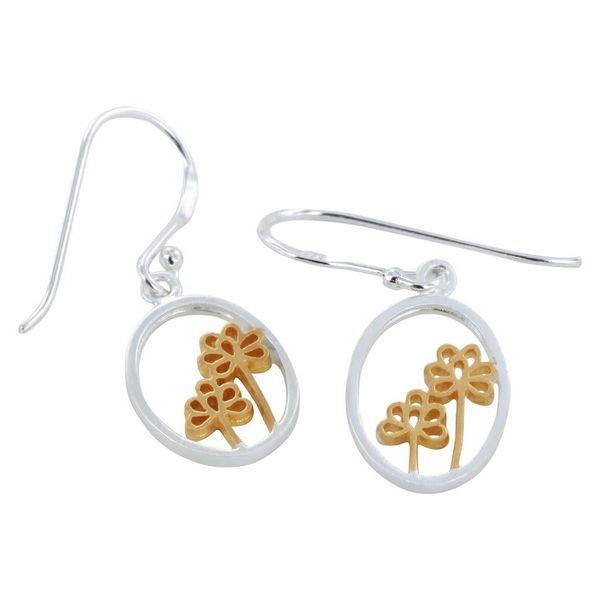 Elderflower Silver gold Earrings