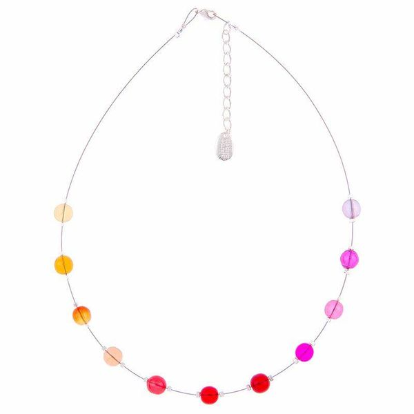 Necklace Warm Galaxy - Reds / Pinks
