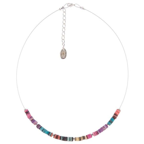 Necklace Shell Shimmer links - Rainbow