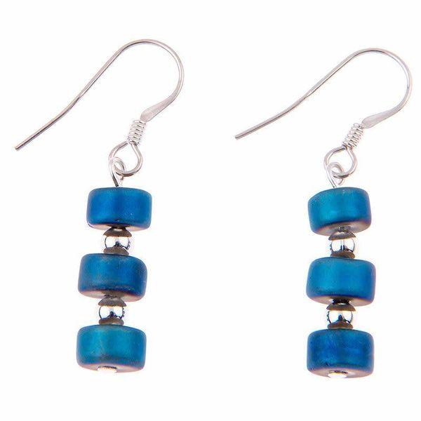 Earrings  Infinity -  Blue