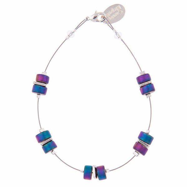 Armband Infinity Spaced - Regenbogen Blau / Lila