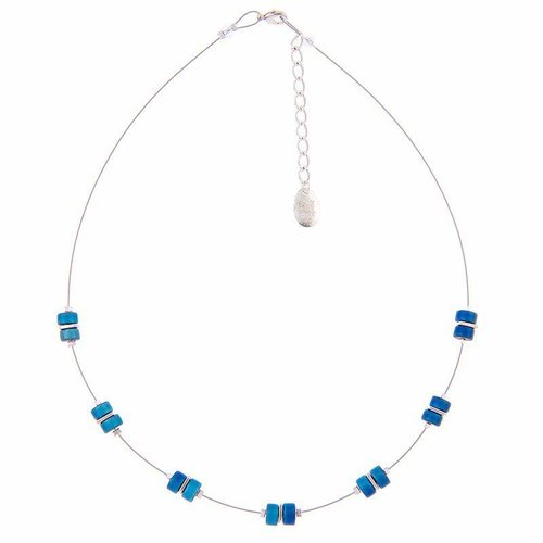 Carrie Elspeth Necklace Infinity Spaced Full - Rainbow Blue