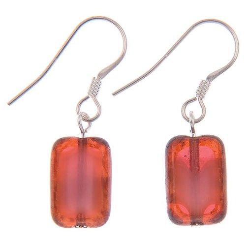 Carrie Elspeth Earrings Picasso - Maroon