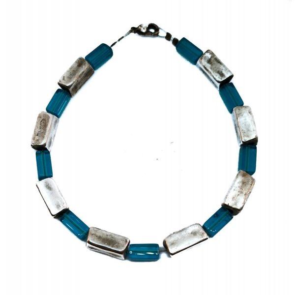 Armband Punkte und Striche Blau -