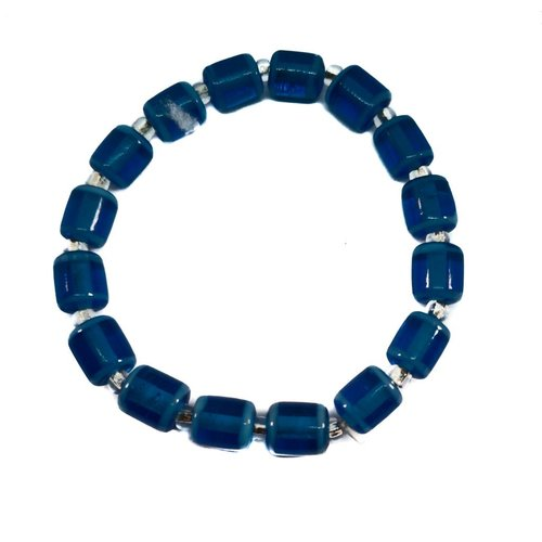 Carrie Elspeth Armband Glasröhren blau -