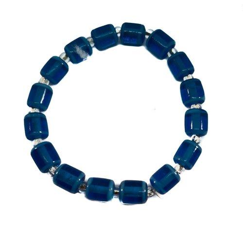 Carrie Elspeth Bracelet Glass Tubes blue -