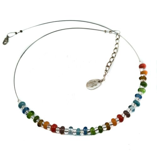 Carrie Elspeth Necklace Rainbow glass