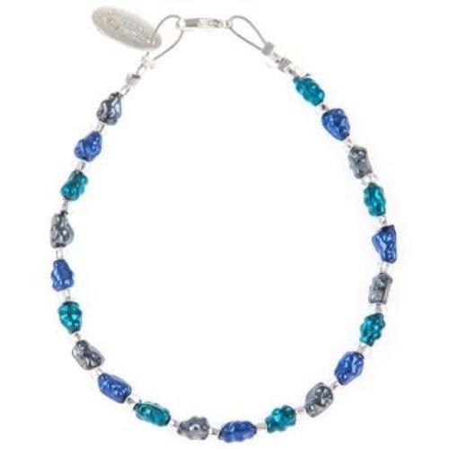 Carrie Elspeth Collar Mini Foil - Ocean Blues