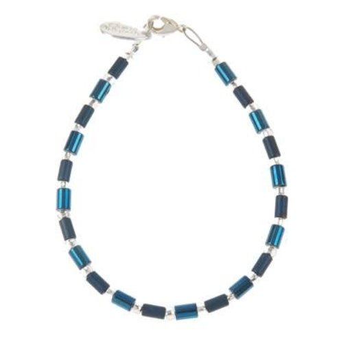 Carrie Elspeth Collar Geo Tube - Cobalto