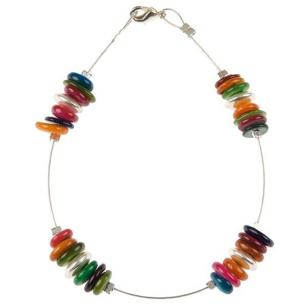 Bracelet Shell shimmer spaced - Rainbow