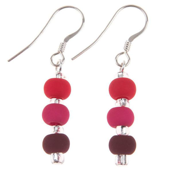 Earrings Carnival - Berry Red