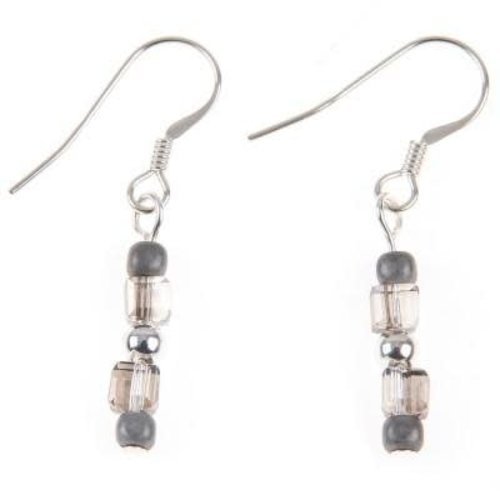 Carrie Elspeth Earring Glamour - Moon Grey / Silver