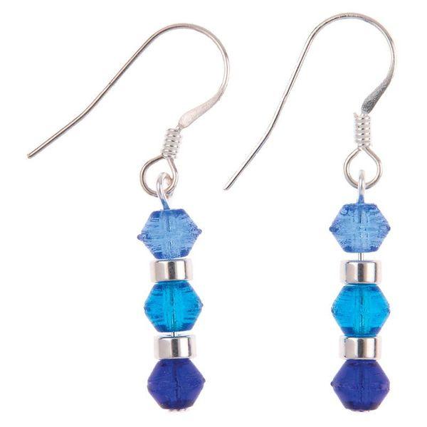 Earrings mini rainbow blue