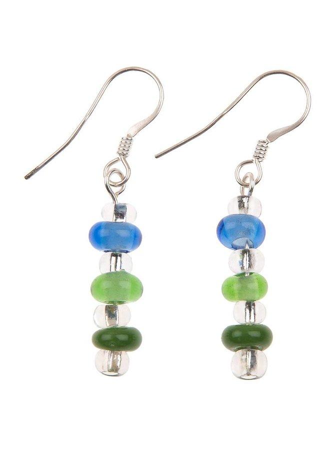 Earrings rainbow glass4.99