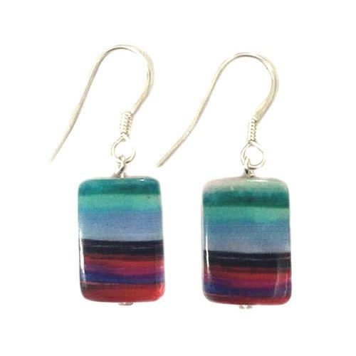 Carrie Elspeth Copy of Abstract Rainbow Earrings