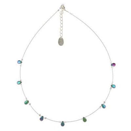 Carrie Elspeth Necklace Teardrop - Petrol