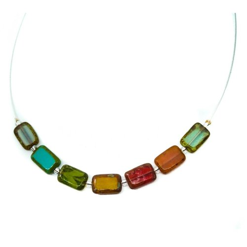 Carrie Elspeth Necklace Picasso Links - Rainbow / Autumn