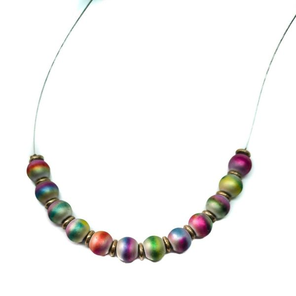 Necklace linked - Frosted Metallics
