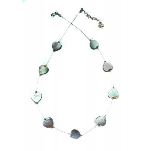 Carrie Elspeth Necklace Pearl Hearts links -