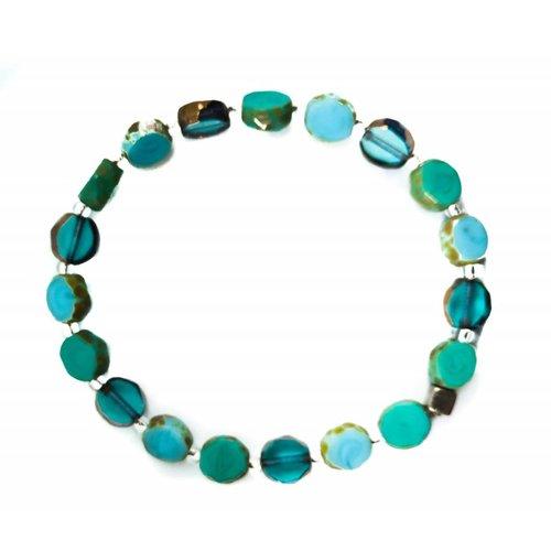 Carrie Elspeth Bracelet Bohemia glass full -