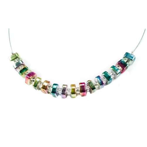 Carrie Elspeth Necklace Cube - Petrol