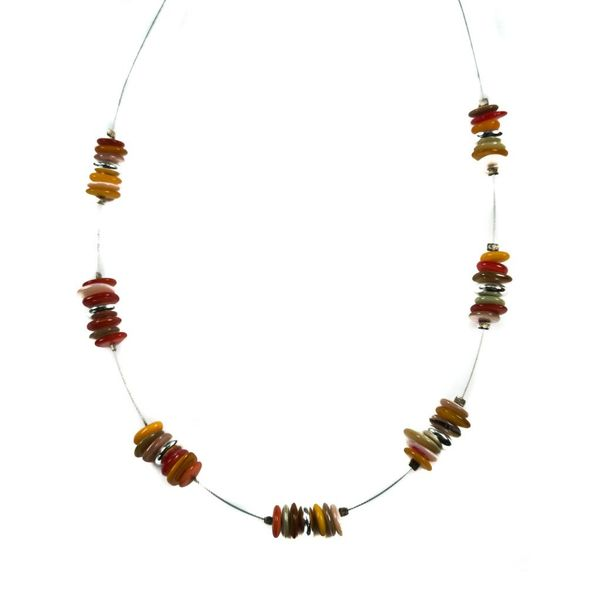Necklace Shells Spaced - Rainbow