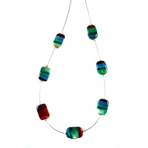 Necklace Abstract Spaced - Multi colour