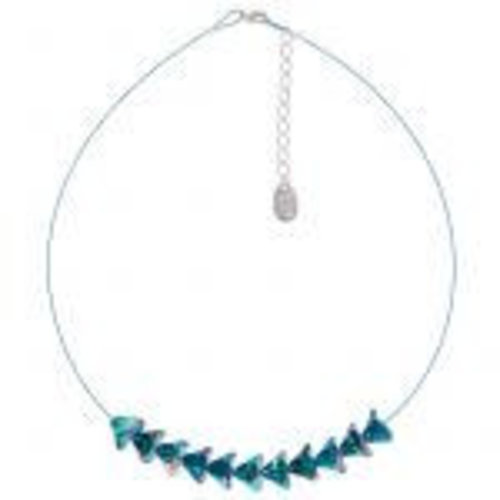Carrie Elspeth Bouquet Peacock Necklace