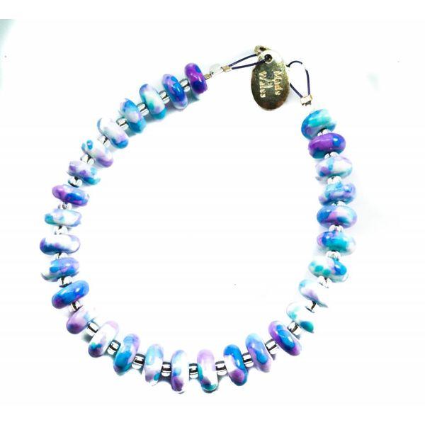 Bracelet Ceramic Disc Lilac -