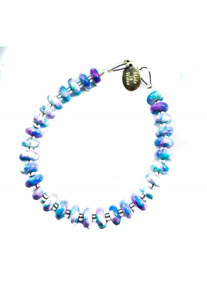 Jadescheibenarmband Flieder -