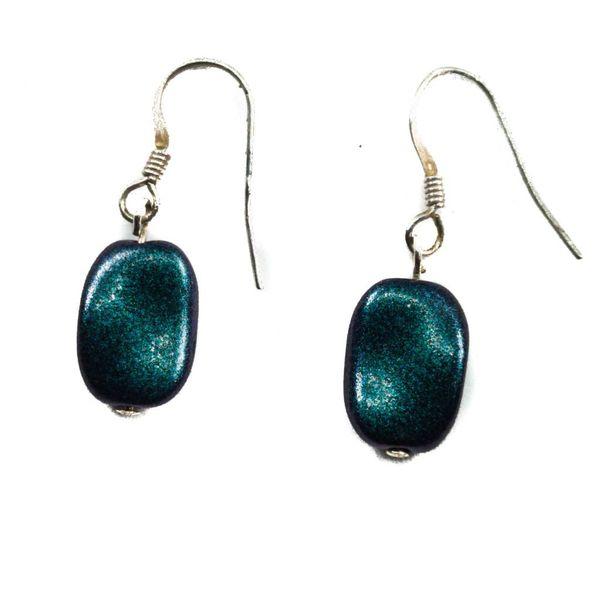 Earring Peacock lozenge  -