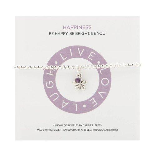 Carrie Elspeth Happiness Mantra Bracelet
