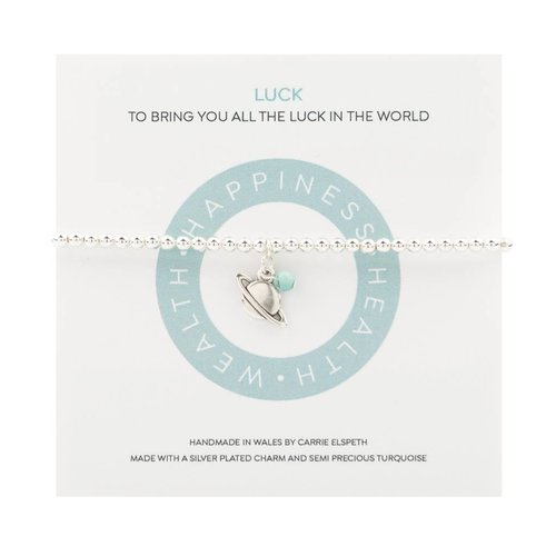 Carrie Elspeth Luck Mantra Bracelet