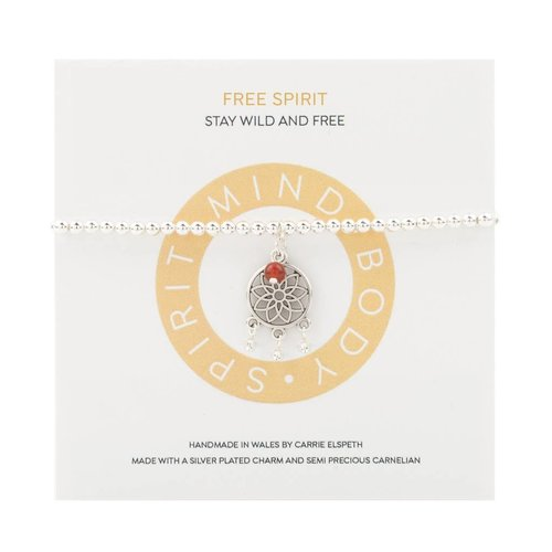 Carrie Elspeth Pulsera Free Spirit Mantra