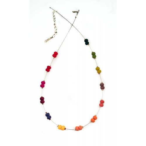 Carrie Elspeth Necklace carnival rainbow spaced