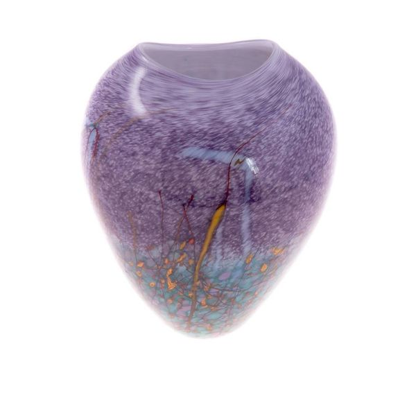 Lila Wiese oval eiförmig