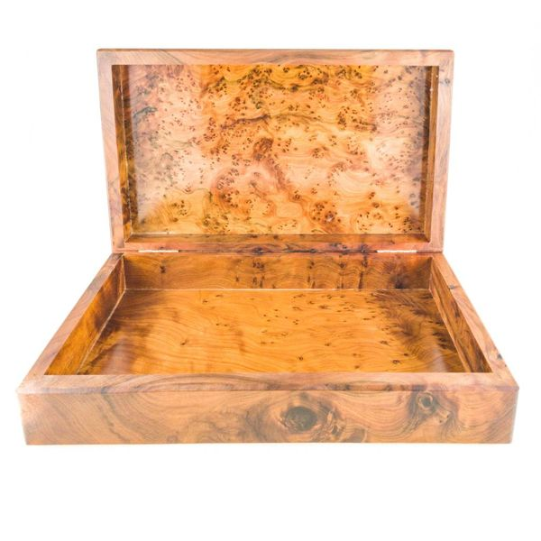 Water Splash Wood, Pewter and Abalone con bisagras de caja 1 secciones