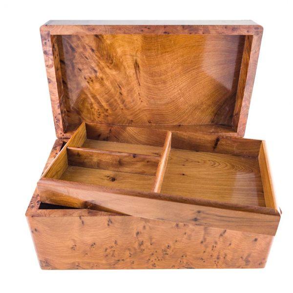 Schmetterlinge Holz und Zinn Klappbox 4 Abschnitte