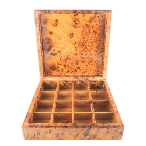 Maria Santos Cherry Blossom Wood y Pewter cajas con bisagras 32 secciones