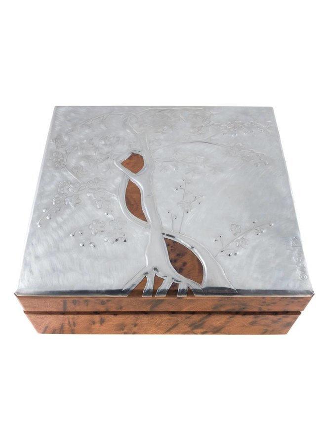 Cherry Blossom Holz und Zinn Klappbox 32 Abschnitte