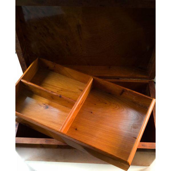 Dalia Tree Wood und Zinn Box 4 Abschnitte
