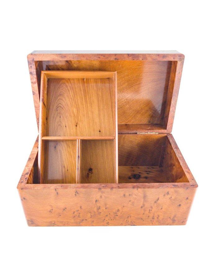 Rose und Abalone Shell Holz und Zinn Box 4 Abschnitte