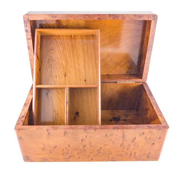 Dalia Tree Wood y Pewter box 4 secciones