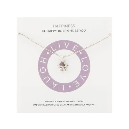 Carrie Elspeth Happiness Mantra Necklace