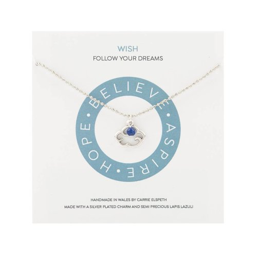 Carrie Elspeth Wish Mantra Necklace