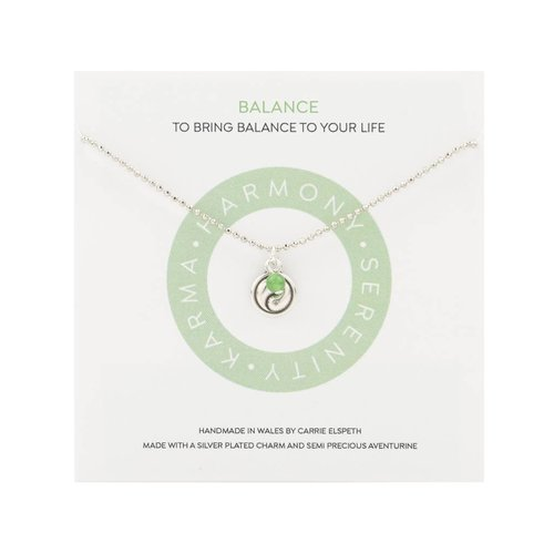 Carrie Elspeth Balance Mantra Necklace